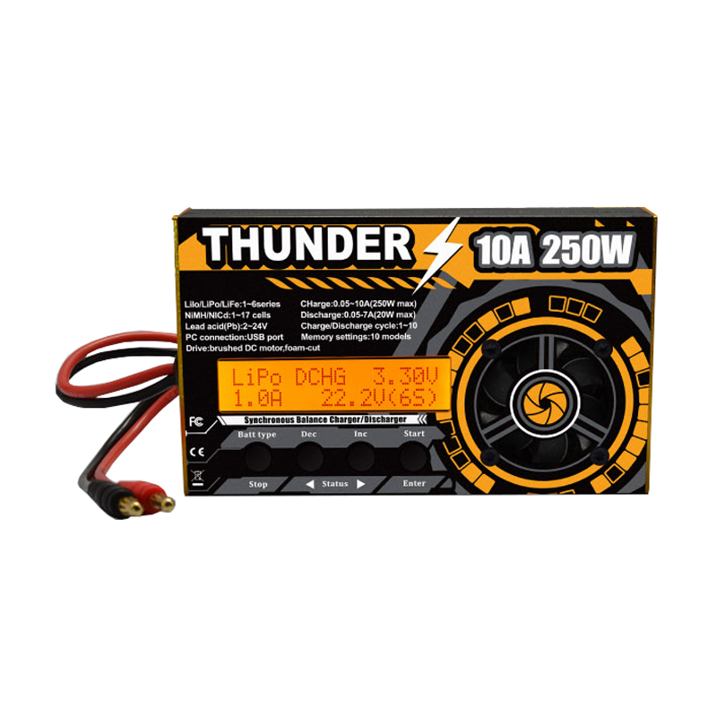 2018 New Arrivals HOTA Thunder 250W 10A DC Balance Charger Discharger For LiPo NiCd PB Battery