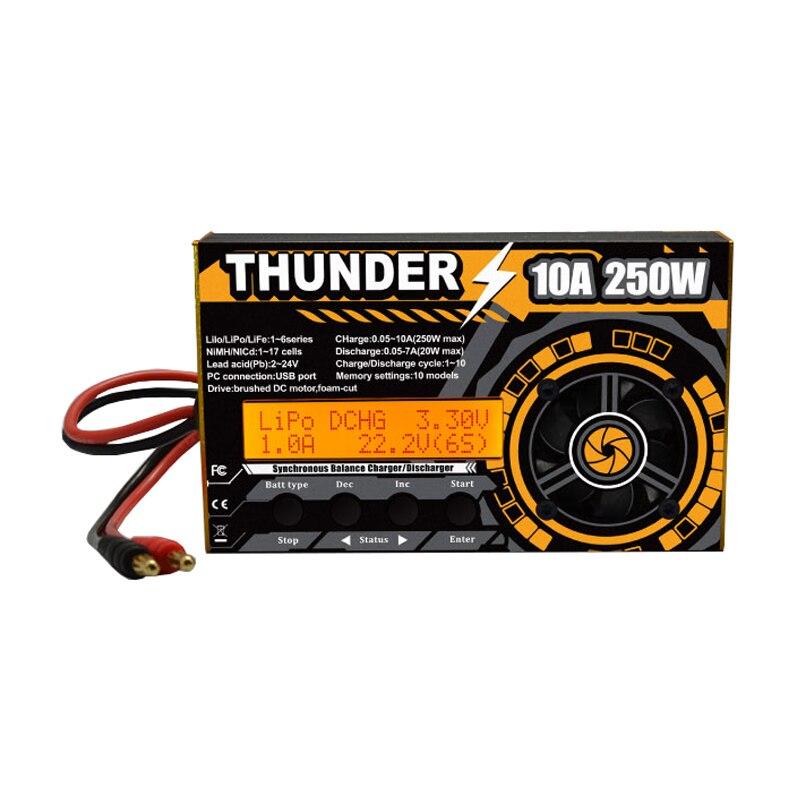 2018 Nouveautés HOTA Thunder 250 w 10A DC Solde Chargeurs Déchargeurs Pour LiPo NiCd PB Batterie