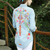 AIGYPTOS LZ Spring Autumn Women Novely Personality Vintage Ethnic Bohemian Hippie Style Embroidered Long Sleeve