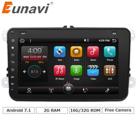 Eunavi 2 Din 8 Inch Android 7 1 Car Radio Stereo For VW JETTA GOLF MK5