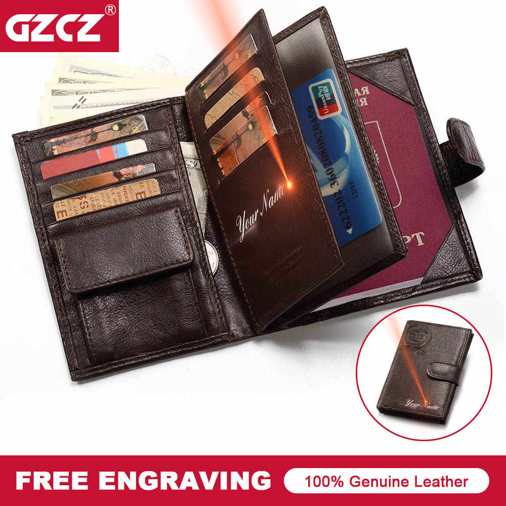91fb52248e21 Detail Feedback Questions about GZCZ Genuine Leather Men Passport ...