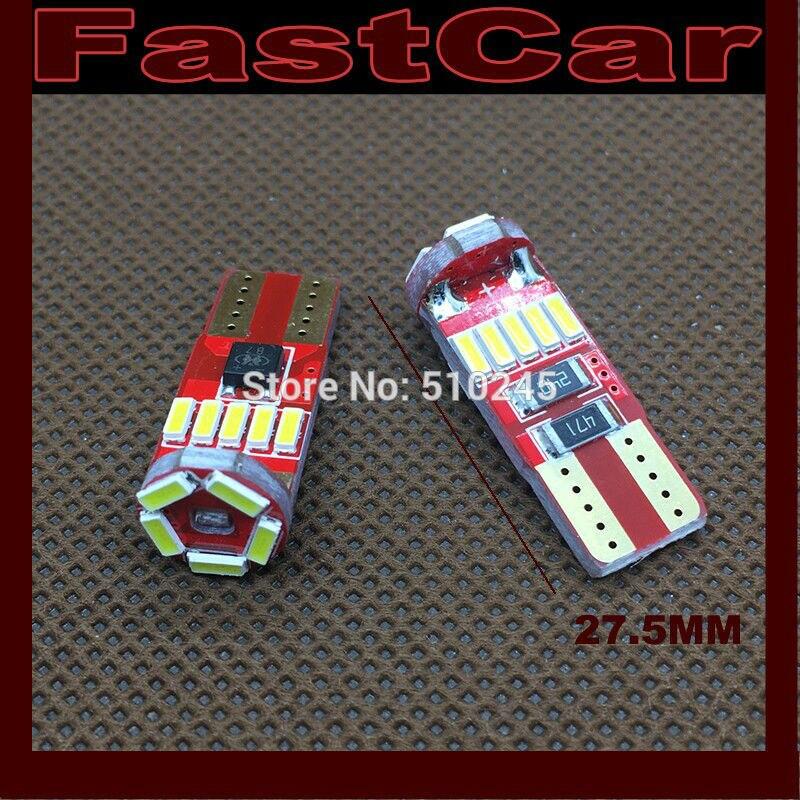 100XHigh quality nonpolarity Canbus Car Auto LED 194 W5W 15SMD T10 15 LEDS SMD 4014 Wedge