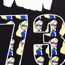 Women's Punk Cute Cartoon Printed Short Sweatshirts