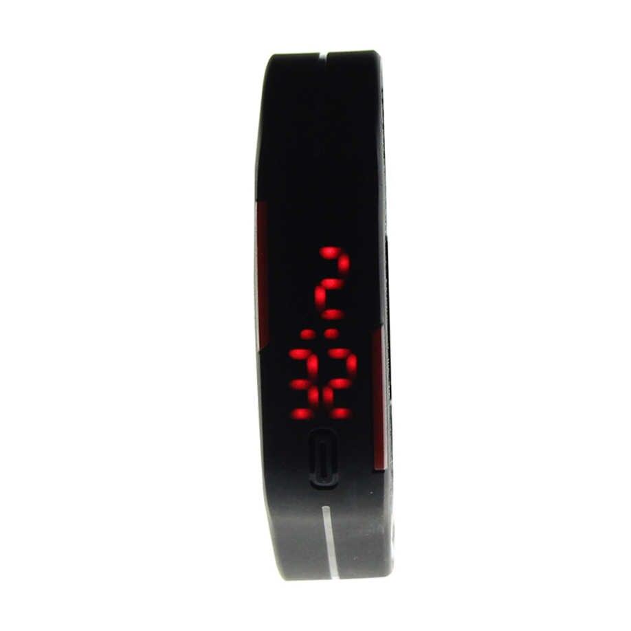 מכירה לוהטת ספורט שעון גברים נשים חדש אופנה אולטרה דק סיליקון הדיגיטלי LED צמיד יד שעונים לשני המינים שעונים Drop חינם