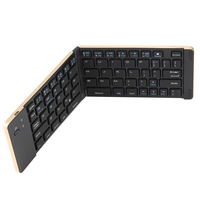 Ultra Slim Folding Keyboard Wireless Bluetooth 3.0 Mini Aluminum Alloy Keypad Mobile Phone/Tablet Keyboard Easy to Carry