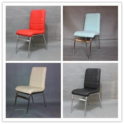 Rvs eettafel stoelen moderne minimalistische zwart wit combinatie ...