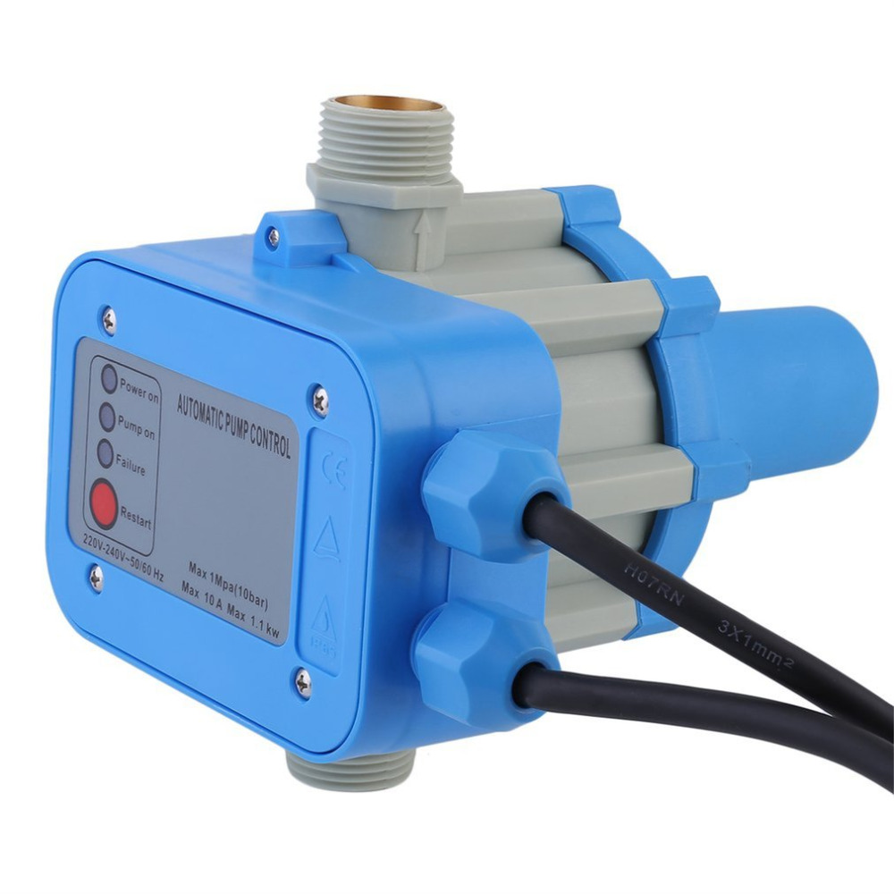 JSK-1 Professional Automatic Water Pump Pressure Controller Electronic Switch Portable Auto Pressure Control Switch EU Plug