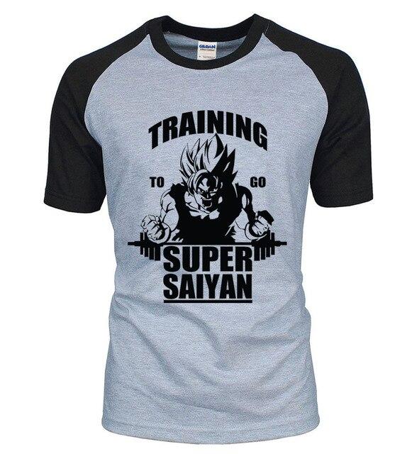 Adult Anime Dragon Ball Super Saiyan t shirt 2017 new summer 100% cotton raglan men t-shirt Camisetas Hombre for fans S-2XL