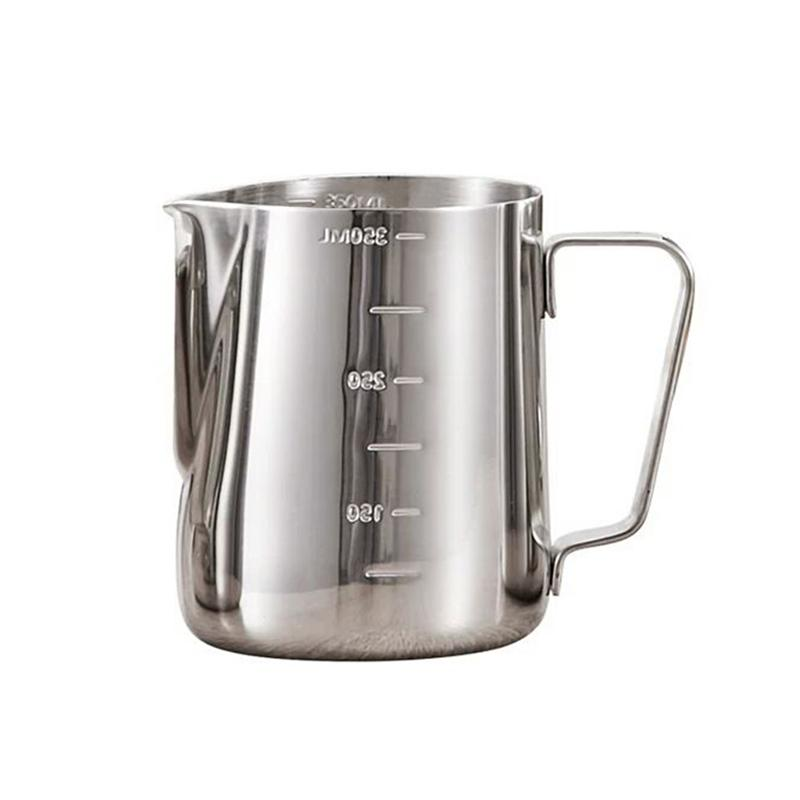 350ml 600ml 900ml Measuring Cup Steaming Frothing Pitcher Stainless Steel With
