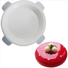 Creative Kitchen Baking Mousse Moulds Eclipse Round Shaped One Set Flat Top and Rounded Sides Silicone Mold Cake Molds