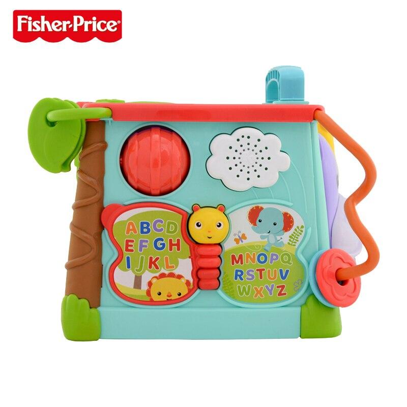 Fisher Price marque bébé jouets d'apprentissage jouer et apprendre activité Cube occupé boîte jouets éducatifs pour enfants enfant cadeau d'anniversaire - 2