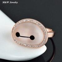 Nette warme männlichen zubehör für die frauen kristall ring personalisierte modeschmuck M & WS4785