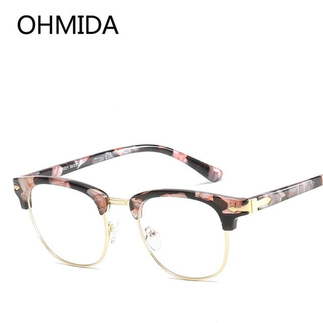OHMIDA Nueva Moda Retro de Las Mujeres Gafas Gafas de Titanio Marcos ...
