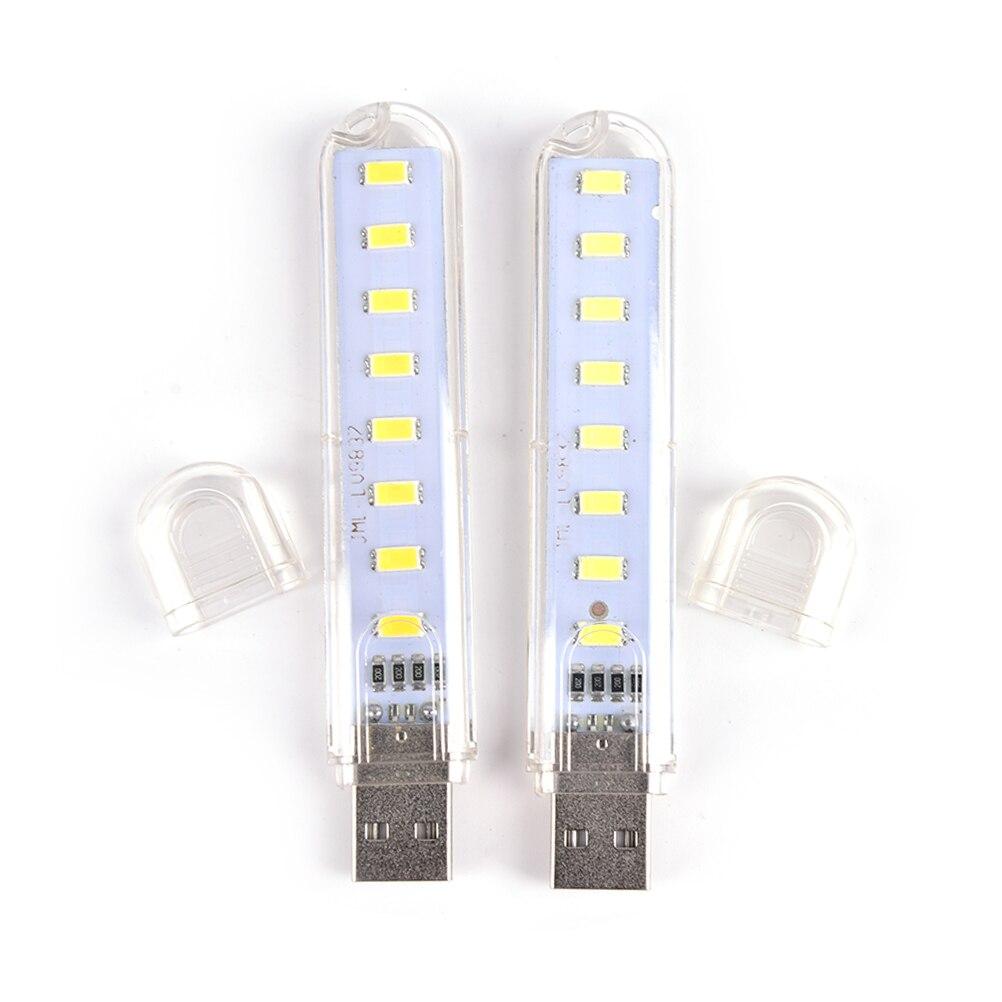 5V 8 LED Mini Power Bank USB LED Light Camping Computer Portable Night Light Gadget PC Laptop