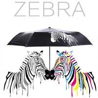 Creative Personality Blossom Water Change Color Umbrella Magic Zebra Umbrella Rain Or Shine Dual Use Three