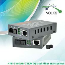HTB-3100AB Волоконно-Оптические Ethernet Media Converter одному Волокну Converter 25 км SC 10/100 М 1 Пара