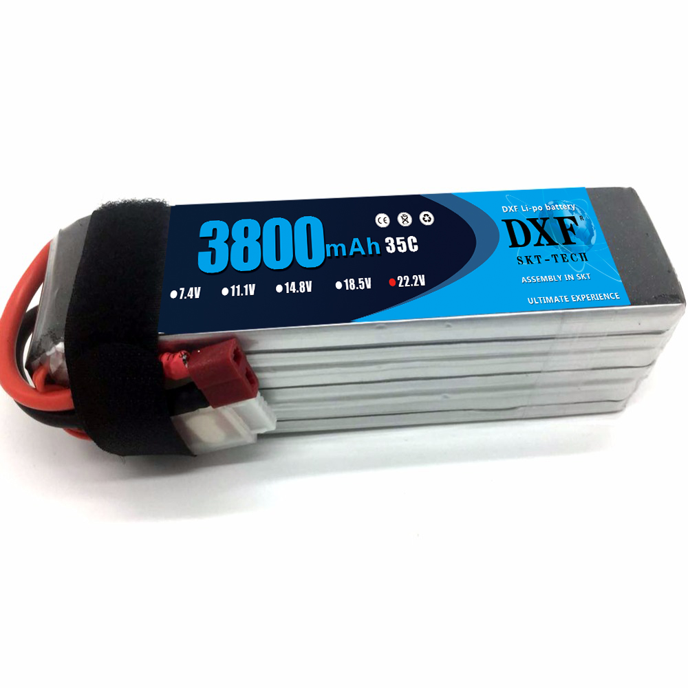 DXF Lipo Battery 6S 22.2V 3800MAH 35C MAX 60C T/XT60 LiPo RC Battery For Rc Helicopter Car Boat drone truck quadcopter