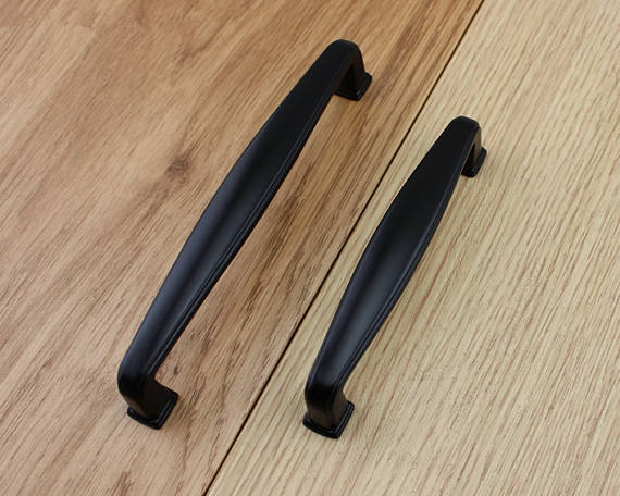 3 75 quot 5 quot 6 3 quot Black Kitchen Cabinet Knobs Handle Pull Knob Door Dresser Drawer Pulls Handles Knobs Decorative Furniture Decor in Cabinet Pulls from Home Improvement