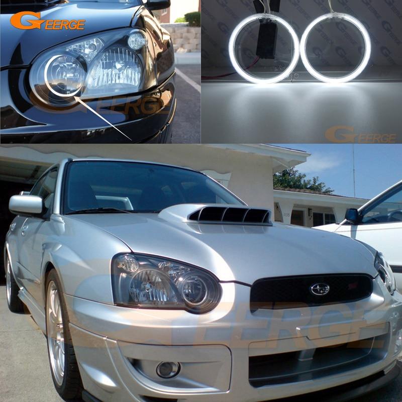 For Subaru Impreza WRX wagon 2004 2005 Excellent Angel Eyes Ultra bright illumination CCFL Angel Eyes kit Halo Ring lacywear u 19 teh