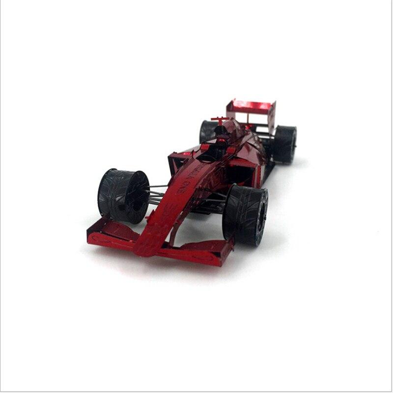 Красный 3D из металла Паззлы лазерная резка собрать DIY модели F1 гоночный автомобиль Лобзики Игрушечные лошадки подарок на Новый год развиваю...