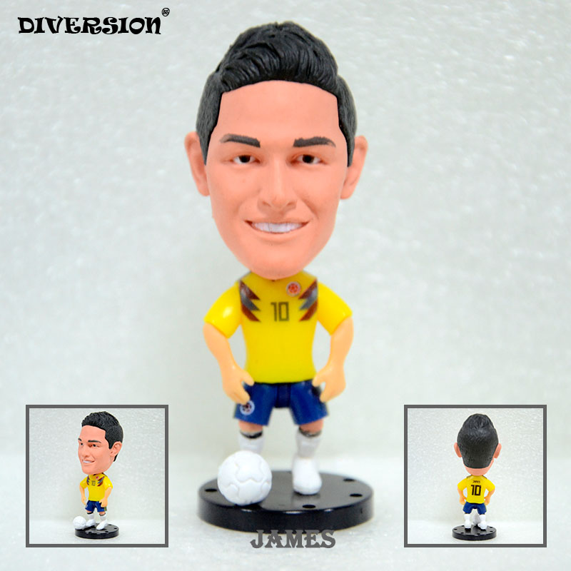 Soccerwe footabller action figure Soccer Player Star 10# JAMES Colombia 2018 NATIONAL TEAM  2.5 Toy Doll Figure