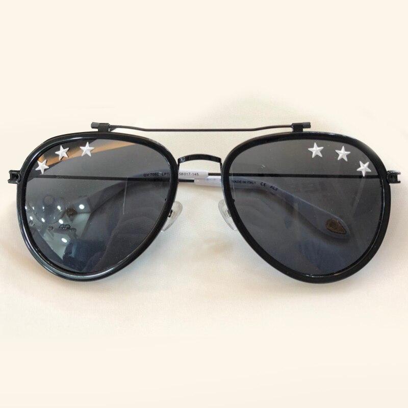2018 Summer Fashion Women Sunglasses Brand Designer Pilot Style Female Eyewear with Stars on Lens Oculos