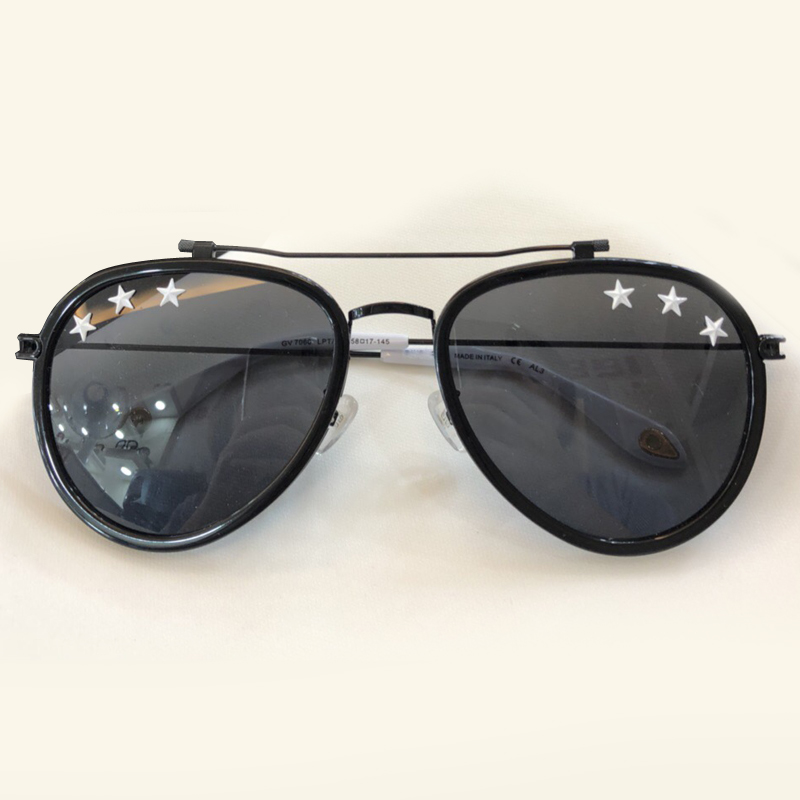 2018 Summer Fashion Women Sunglasses Brand Designer Pilot Style Female Eyewear with Stars on Lens Oculos De Sol with Packing Box