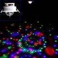 1 pcs 3 w cor rgb led voice-ativado moving head teto luz de palco dj disco party free grátis