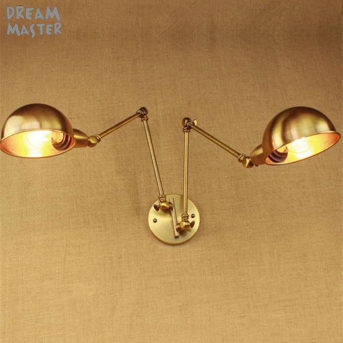 Железные Настенные светильники в стиле ретро с позолоченными