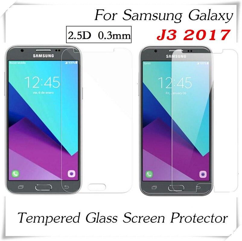 imágenes para 100 unids 2.5D Vidrio Templado Para Samsung Galaxy J3 2017 Prueba de Explosión Anti-Shatter Protector de Pantalla Película Protectora