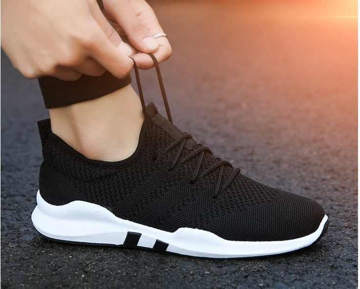 fa8b5bd7e Новая Мужская обувь Летняя мода Для мужчин повседневная обувь дышащие  мужские кроссовки для взрослых Нескользящая Удобная