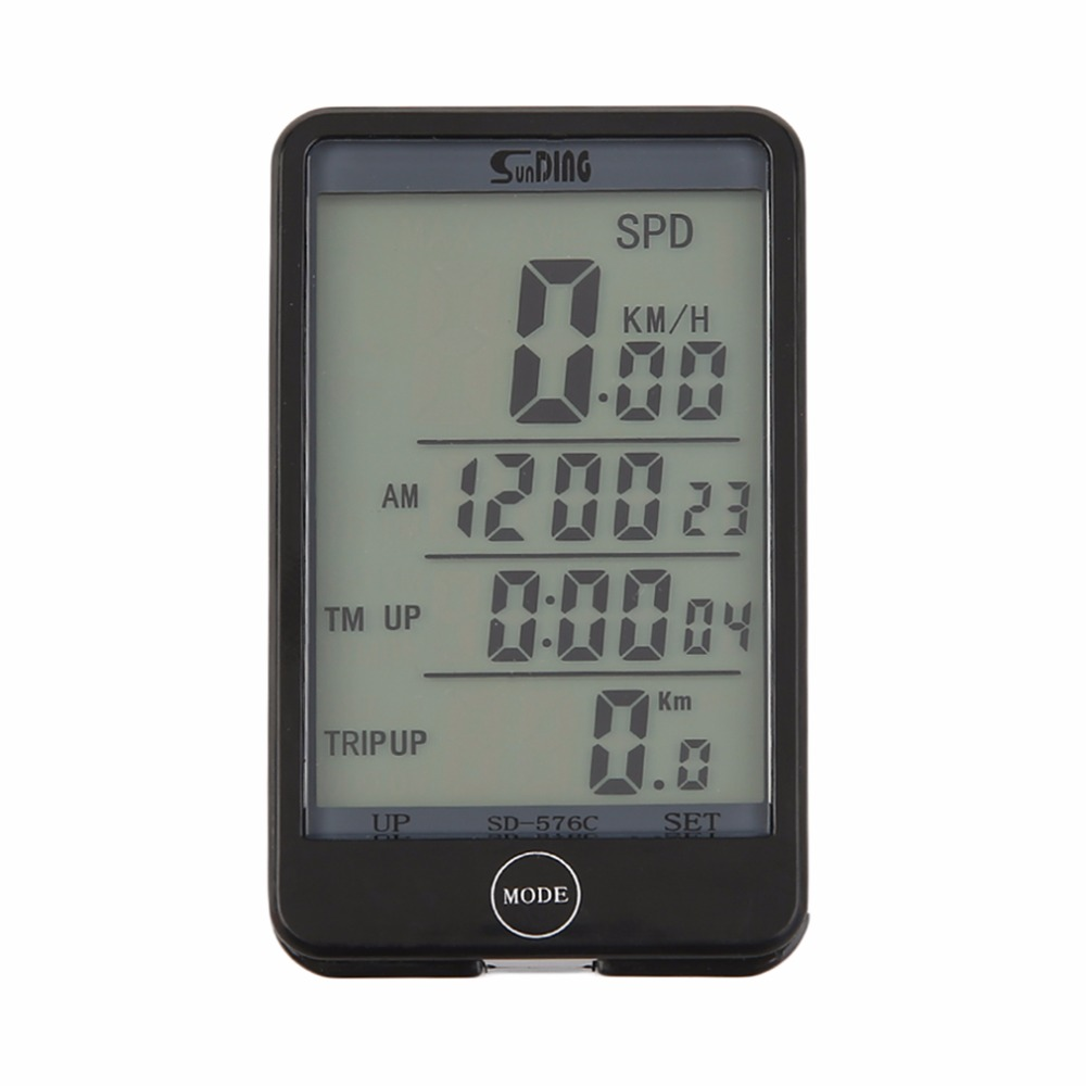 SunDing 576C 29 Functions Wireless Backlight CyclingBicycle Bike Computer Speedometer Odometer Bike Stopwatch Drop Shipping