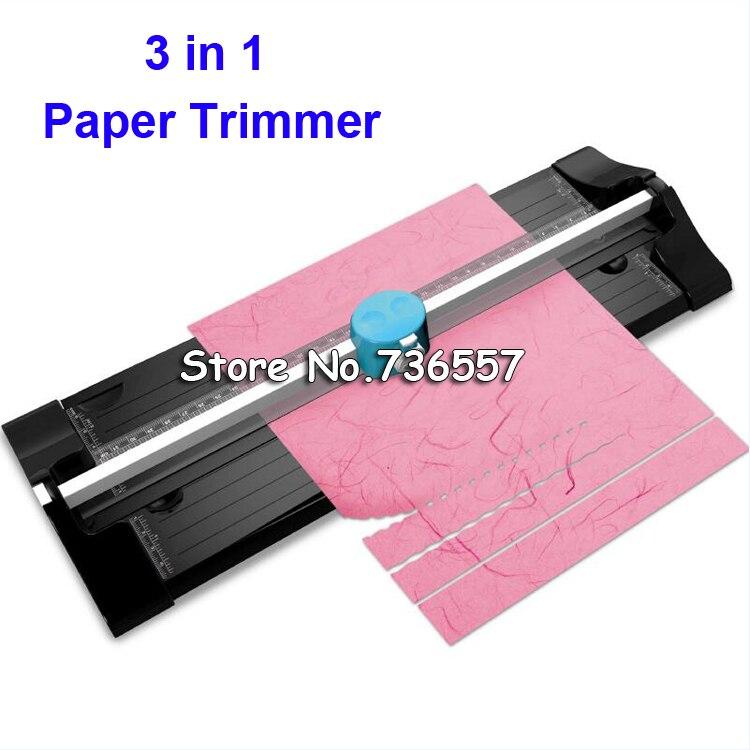 Muiltfunctional TM - 10 3 In 1 A4 Precision Photo Paper Card Craft Rotary Cutter Cutting Trimmer Ruler