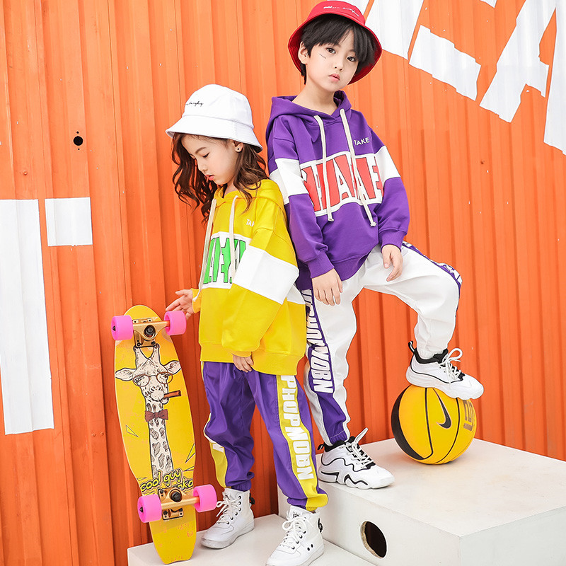 Image 3 - Baby Girls clothes 2 Piece Set Spring Autumn 2019 kids hip hop dance children costume  Sport Suits Dance Costumes girls outfitsClothing Sets   -