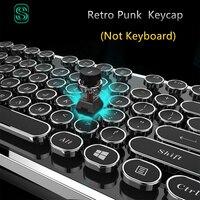 DIY key cap Retro steam punk typewriter mechanical keyboard keycap 104 87 standard keys for gaming gamer keyboard key cap