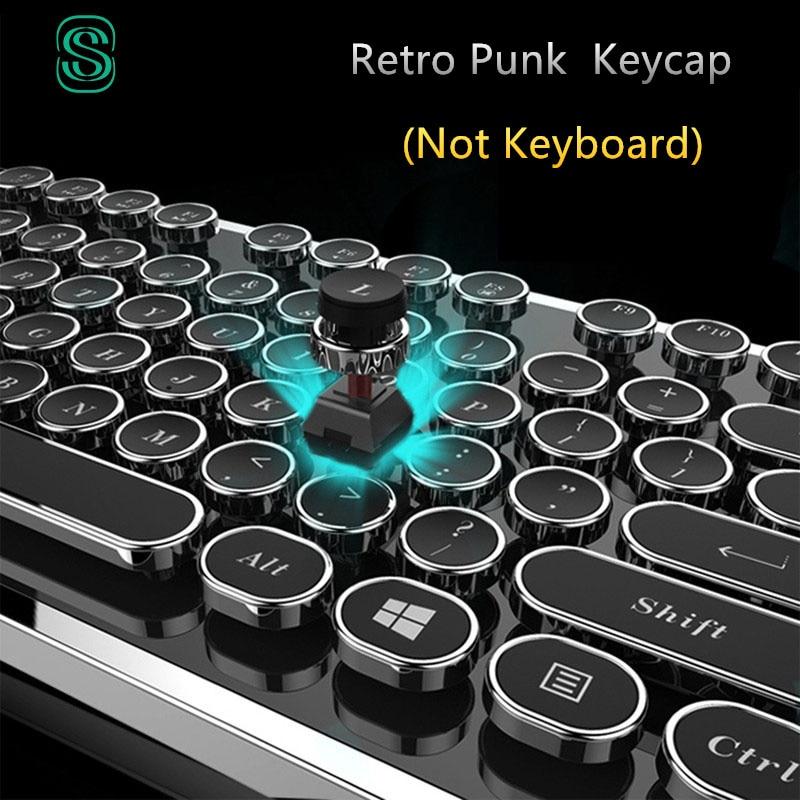 DIY chiave cap Retro punk a vapore macchina da scrivere keycap tastiera meccanica 104 87 tasti standard per il gaming gamer keyboard key cap