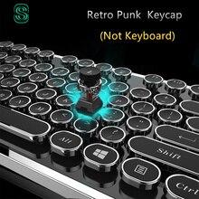 DIY key cap Retro steam punk typewriter mechanical keyboard keycap 104 87 standard keys for gaming