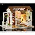 """""""Momentos felizes"""" Enigma 3D De Madeira DIY Brinquedo Casa De Madeira Em Miniatura Casa de Boneca Móveis Casa De Bonecas Miniaturas Para Brinquedos de Presente de Aniversário"""