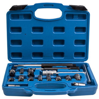 Diesel Injector Zetels Cutter Cleaner CDI Motor 17 pcs Carbon Remover Tool Set voor BMW Ford Peugeot Citroen Renault
