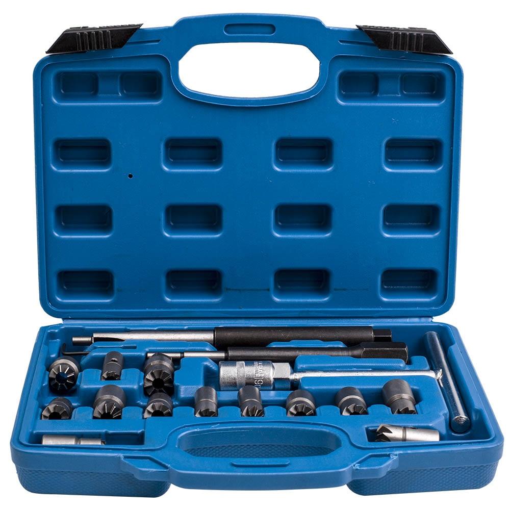 Nettoyant pour sièges d'injecteur Diesel moteur CDI 17 pièces ensemble d'outils pour dissolvant de carbone pour BMW Ford Peugeot citroën Renault