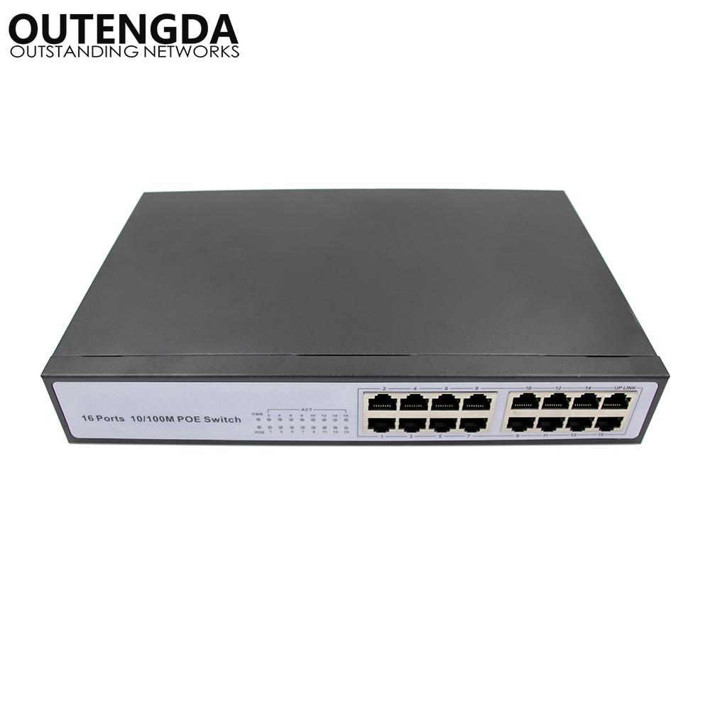 Υψηλής ποιότητας καλύτερο cctv Network Switch 16 πομποδέκτης με ενσωματωμένη ισχύ 150w