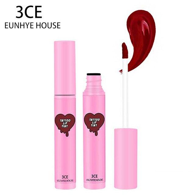 3CE Eunhye Casa Marca Lipgloss Duradero brillo de Labios de Humedad a prueba de agua Kit Labio Tatuaje Batom Maquillaje Nude Líquido Rojo para labios