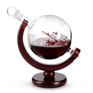 Image 1 - Carafe en verre avec carte rouge cristal, 800ML, carafe pour vin, pour Bar, carafe, bouteille deau de Champagne