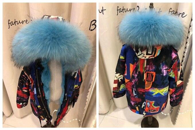 child winter real fur parkas coat (29)