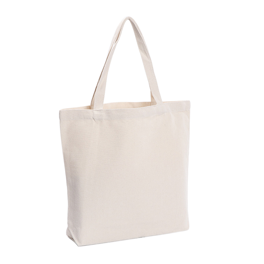 Storage Grocery Foldable Canvas Portable Student Reusable Eco Friendly Solid Color Tote Casual Shopping Bag Single Shoulder