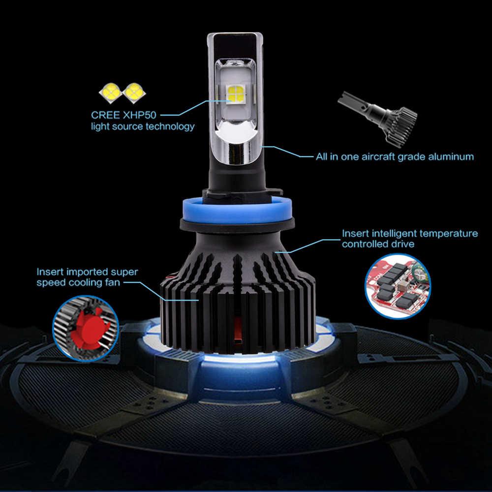 CREEchip XHP50 H11 H8 H16/H16JP Led headlight Kits For Cars Fog Lights 8000Lm LED Beam External Driving Running Lighting
