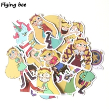 Flyingbee 17 Pcs Star vs. the Forces of Evil Stickers for Kids DIY Luggage Laptop Skateboard Bicycle Waterproof Sticker X0294