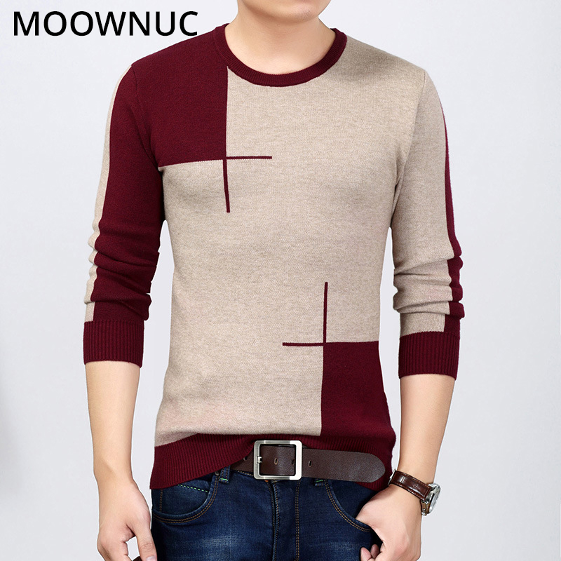 Homme Sweaters Pullover Men Slim Keep Warm Spring Autumn Fashion Smart Casual Male Sweaters Bottoming Shirt O-Neck MOOWNUC MWC