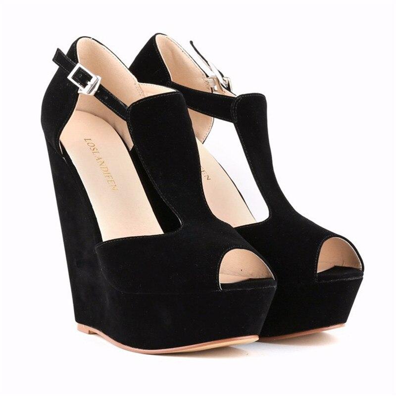 HOT SALE Fashion Summer Women Shoes Peep Toe Flock ...