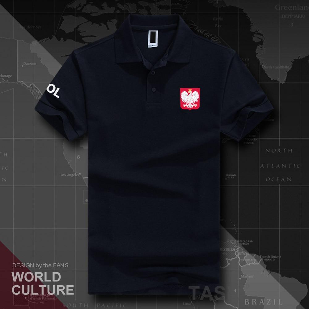 Poland Polish Pole POLAK POLSKA POL polo shirts men short sleeve white brands printed for country 2018 cotton nation team new 20